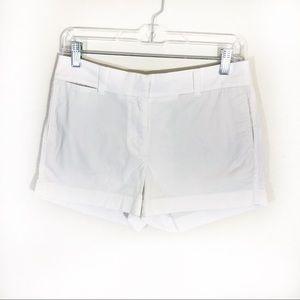 J Crew white stretchy Chino Shorts flat front